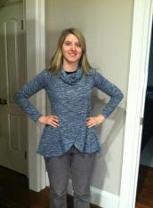 Sweater knit tunic