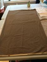 brownish material