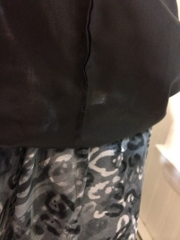 French seams on lining & dress