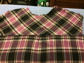 bias plaid yoke