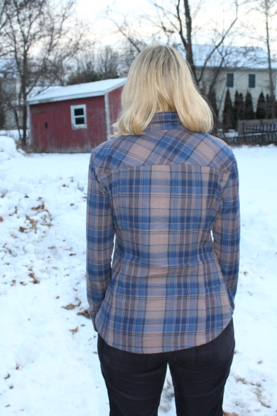 Back of flannel shirt