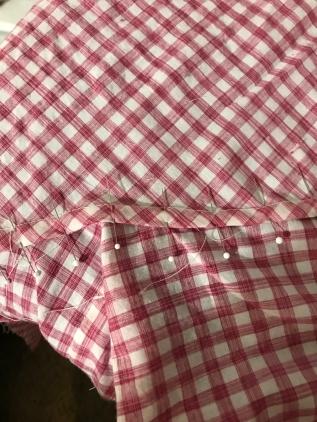 flat-felled seams on the sleeves