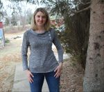Gray mid-weight sweater